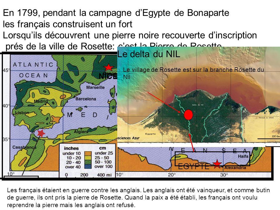 En 1799, pendant la campagne d'Egypte de Bonaparte