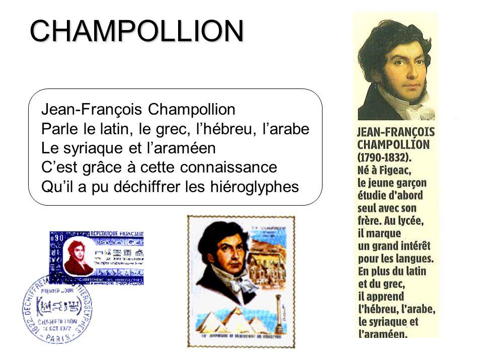 CHAMPOLLION Jean-François Champollion