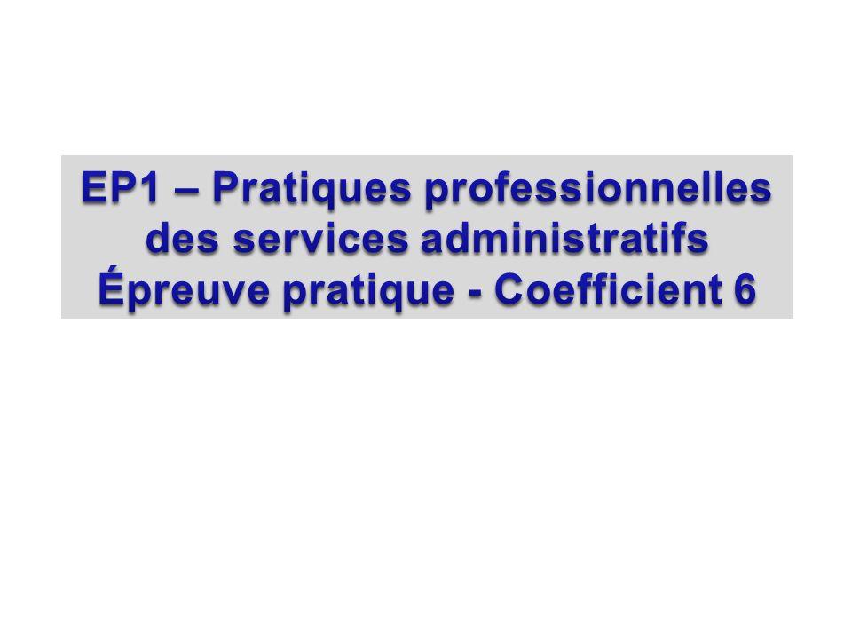 EP1 – Pratiques professionnelles