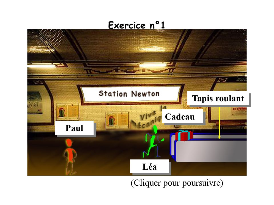 Exercice n°1 Tapis roulant Cadeau Paul Léa (Cliquer pour poursuivre)