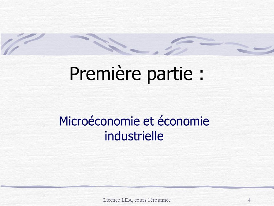 Microéconomie et économie industrielle