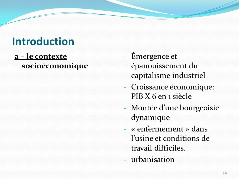Introduction a – le contexte socioéconomique