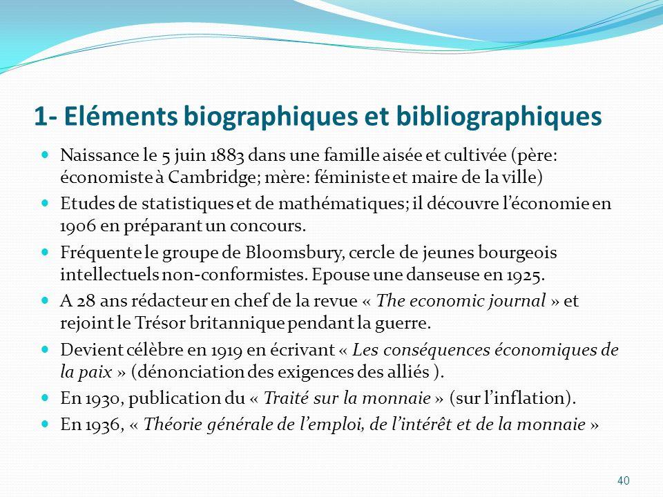 1- Eléments biographiques et bibliographiques