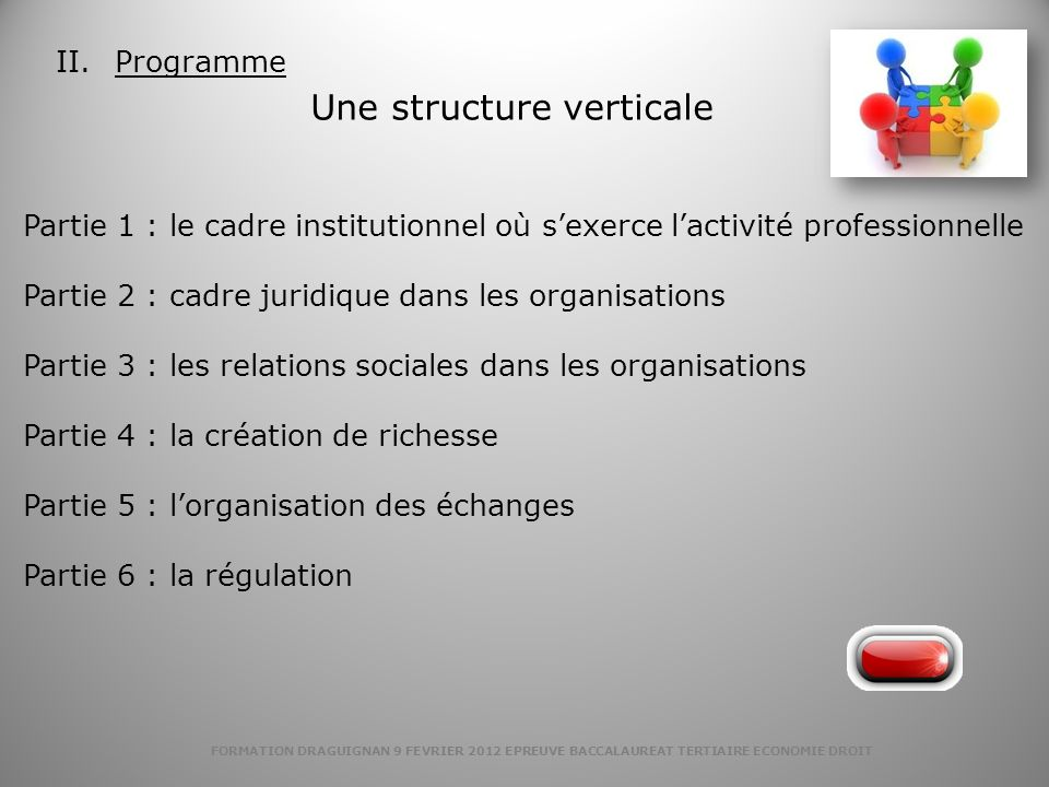 Une structure verticale