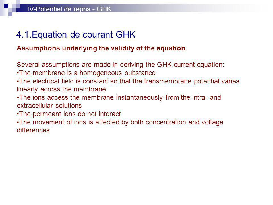 4.1.Equation de courant GHK