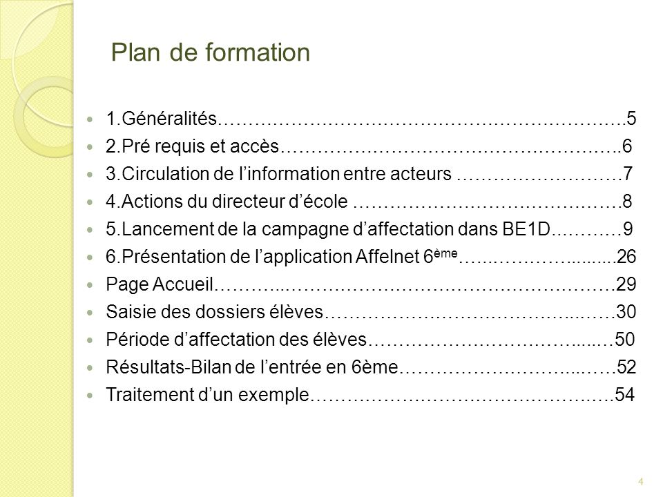 Plan de formation 1.Généralités………………………………………………………….5