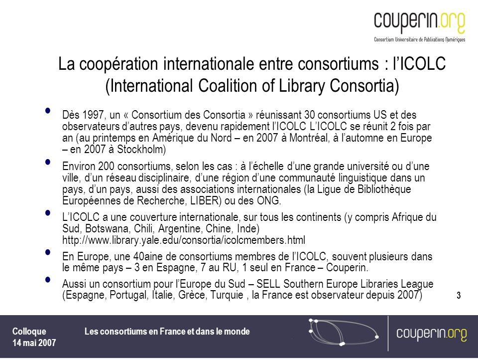 Les consortiums en France et dans le monde