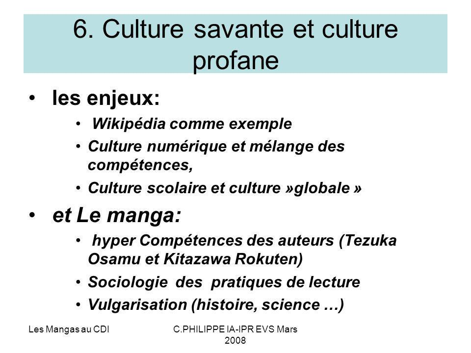 6. Culture savante et culture profane