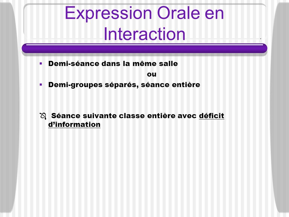Expression Orale en Interaction