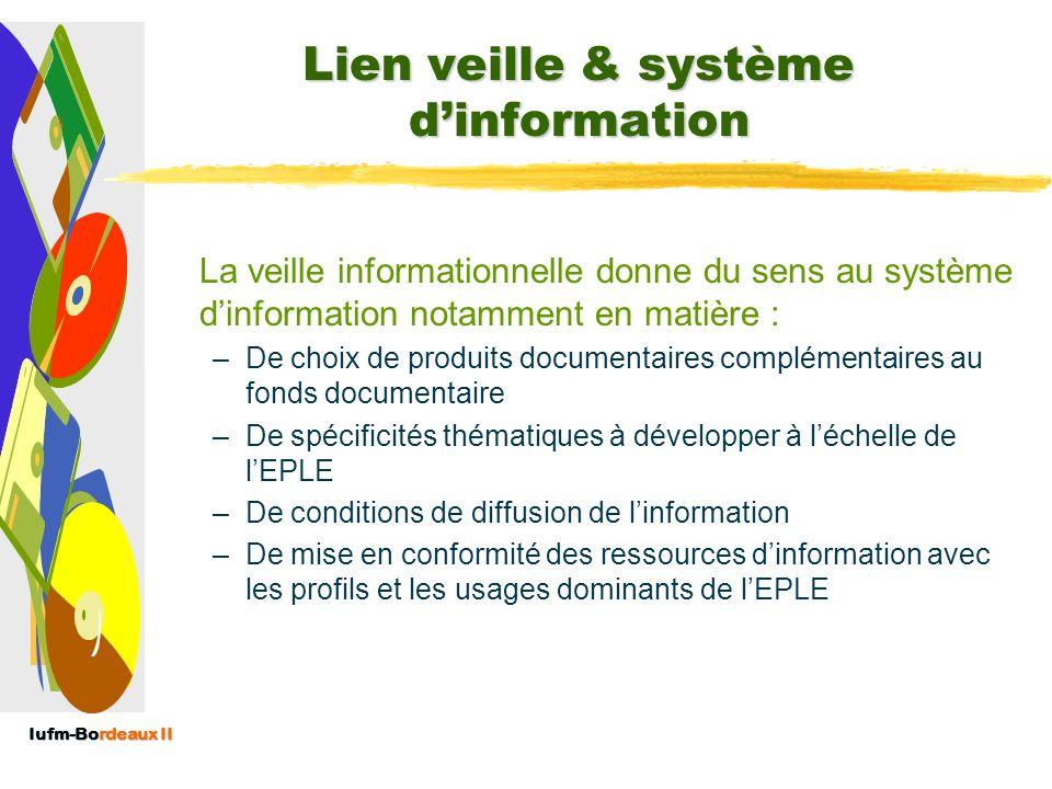 Lien veille & système d'information