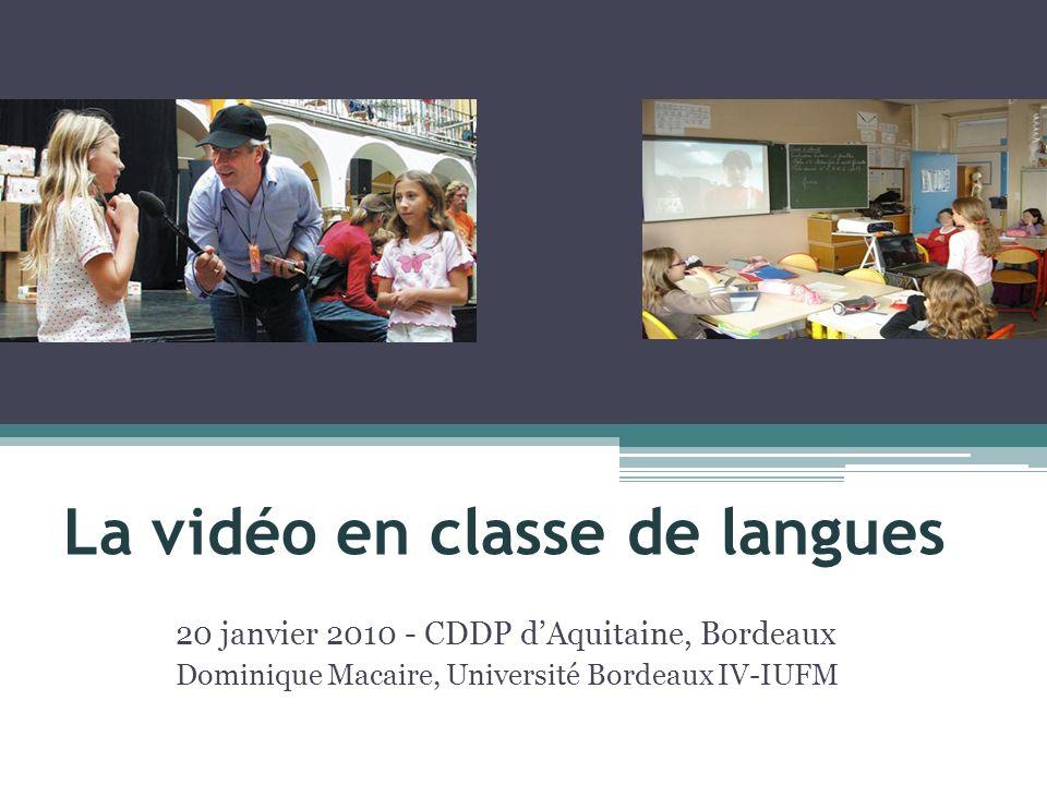 La vidéo en classe de langues