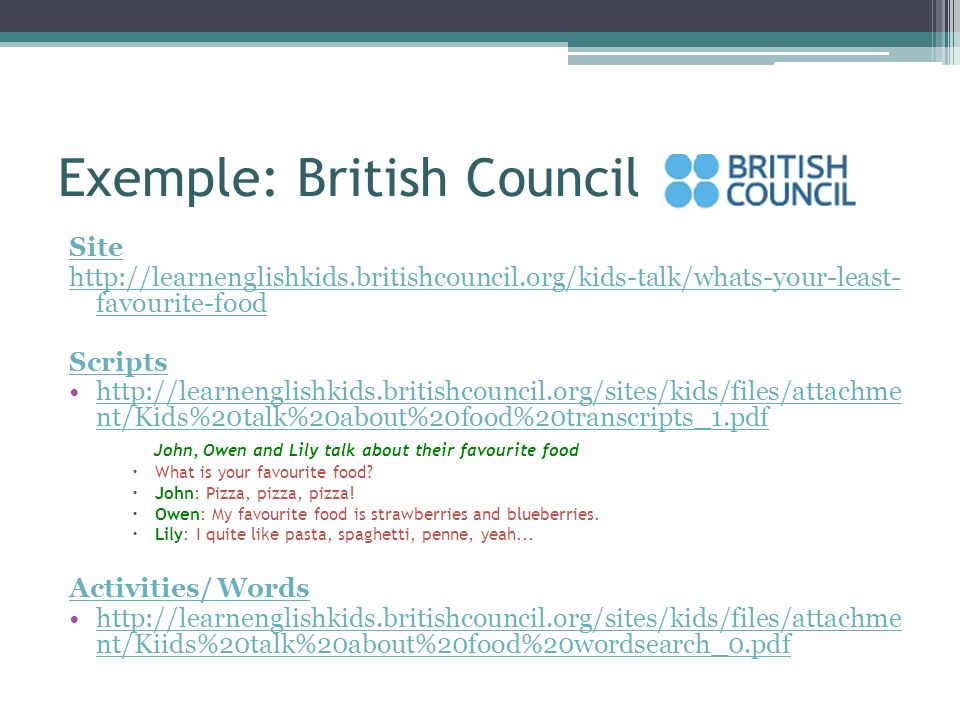 Exemple: British Council