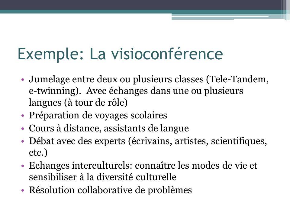 Exemple: La visioconférence