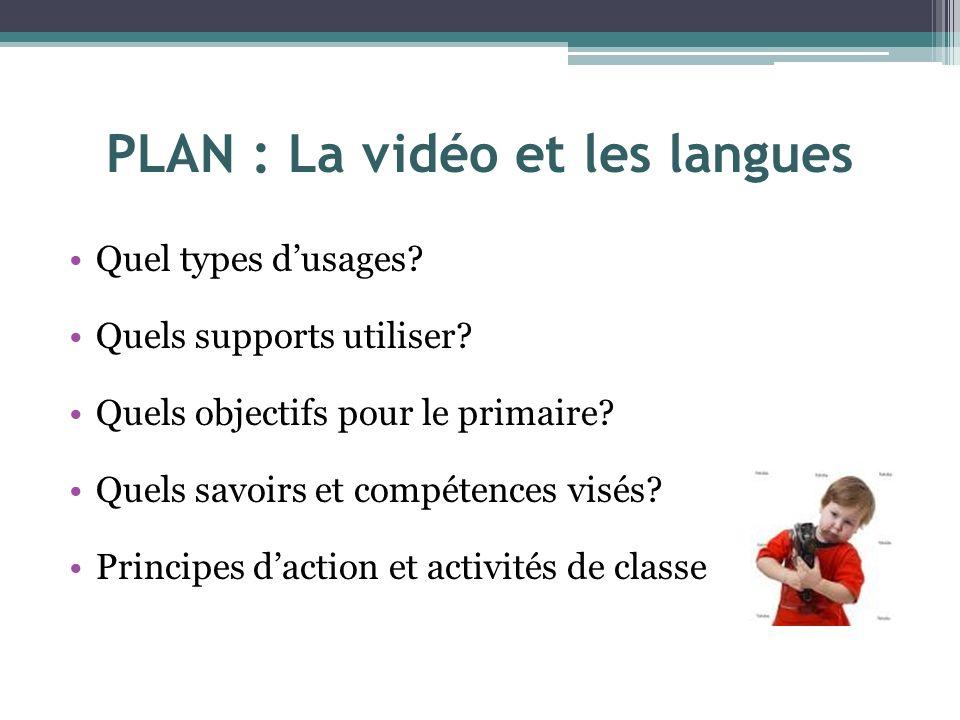 PLAN : La vidéo et les langues