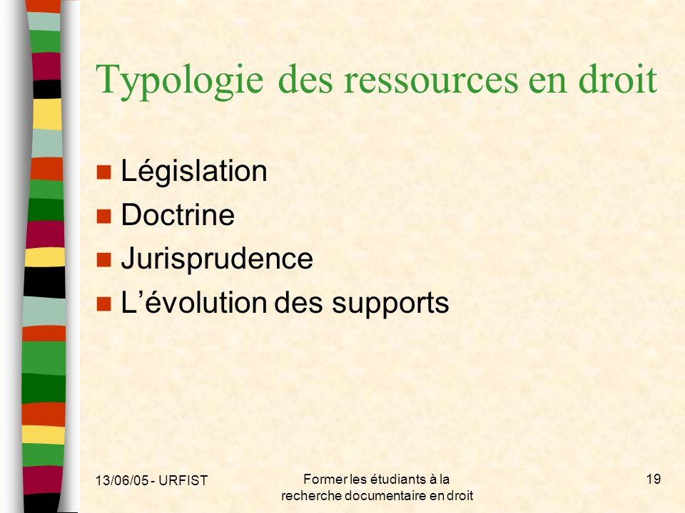 Typologie des ressources en droit