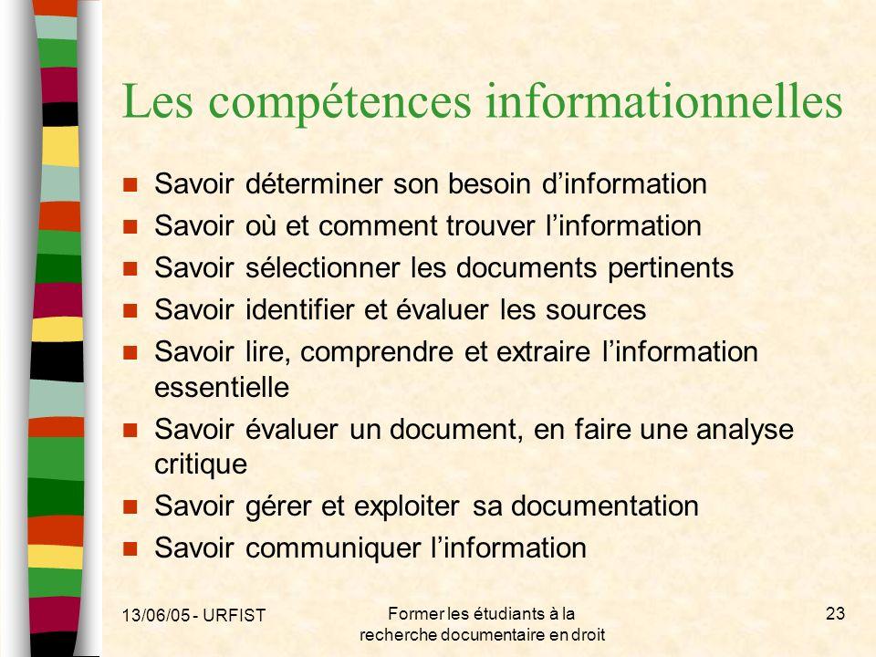 Les compétences informationnelles