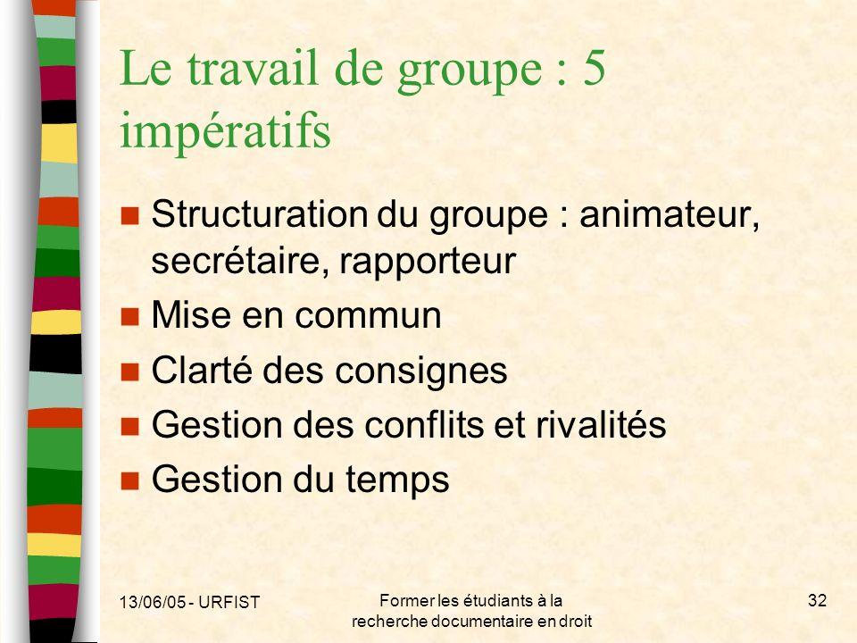 Le travail de groupe : 5 impératifs