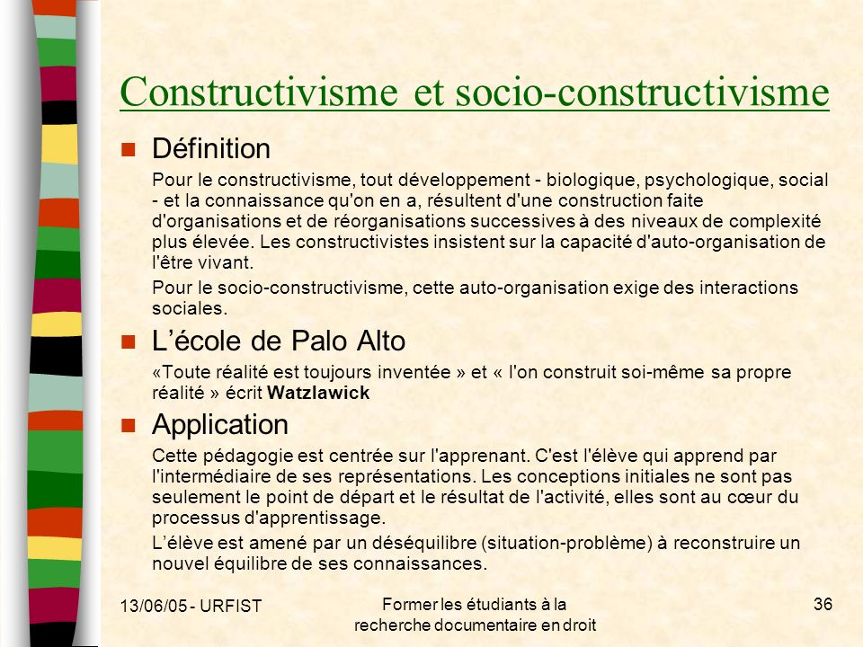 Constructivisme et socio-constructivisme