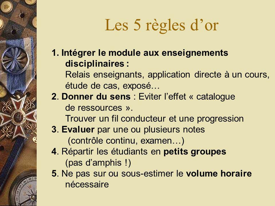 Les 5 règles d'or
