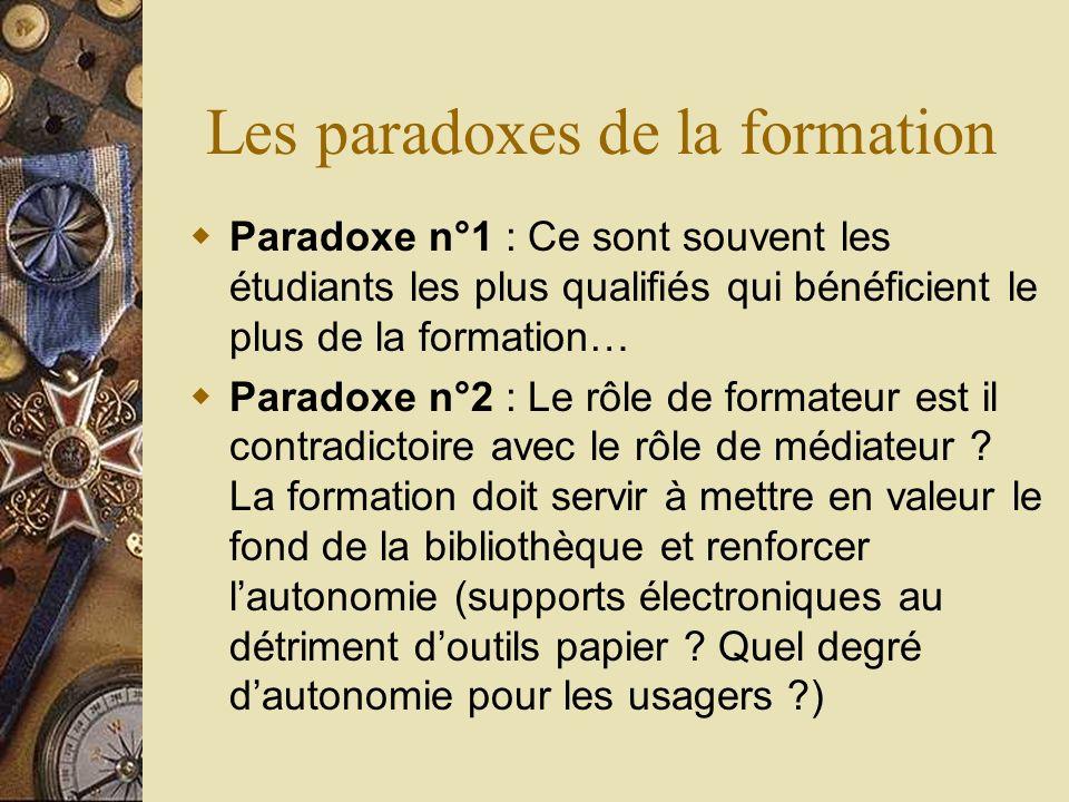 Les paradoxes de la formation