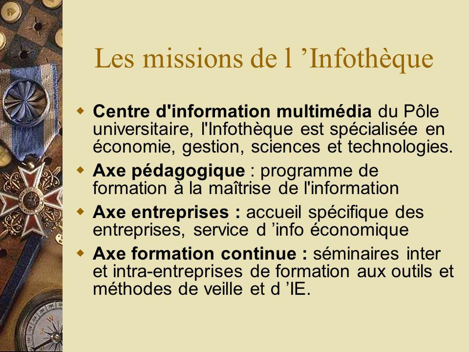 Les missions de l 'Infothèque