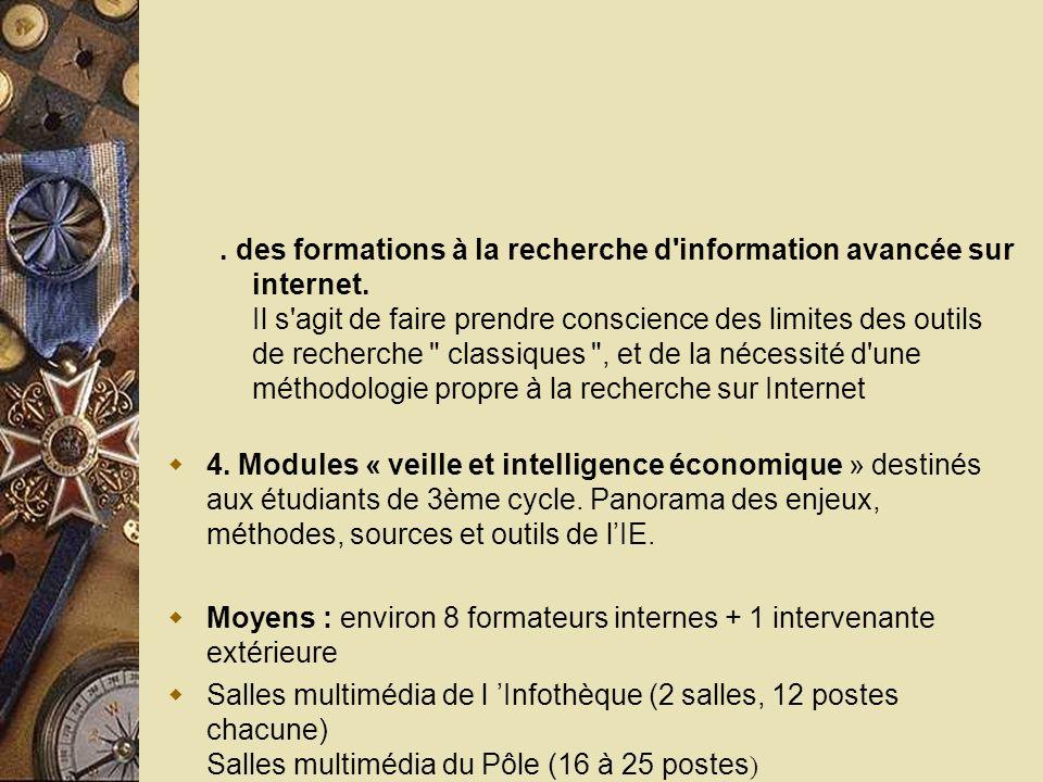 des formations à la recherche d information avancée sur internet