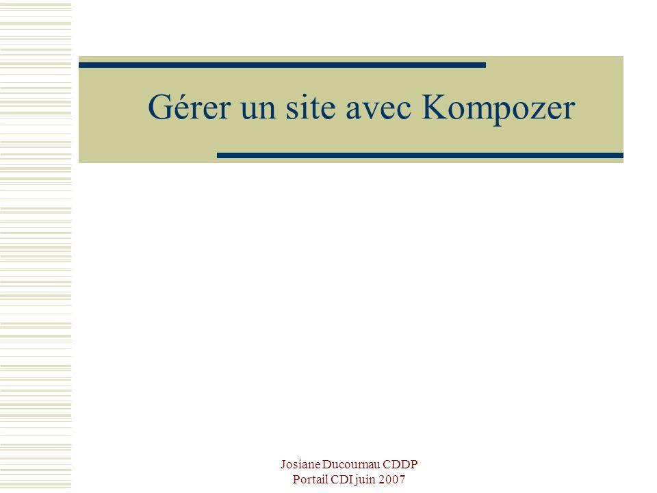 Gérer un site avec Kompozer
