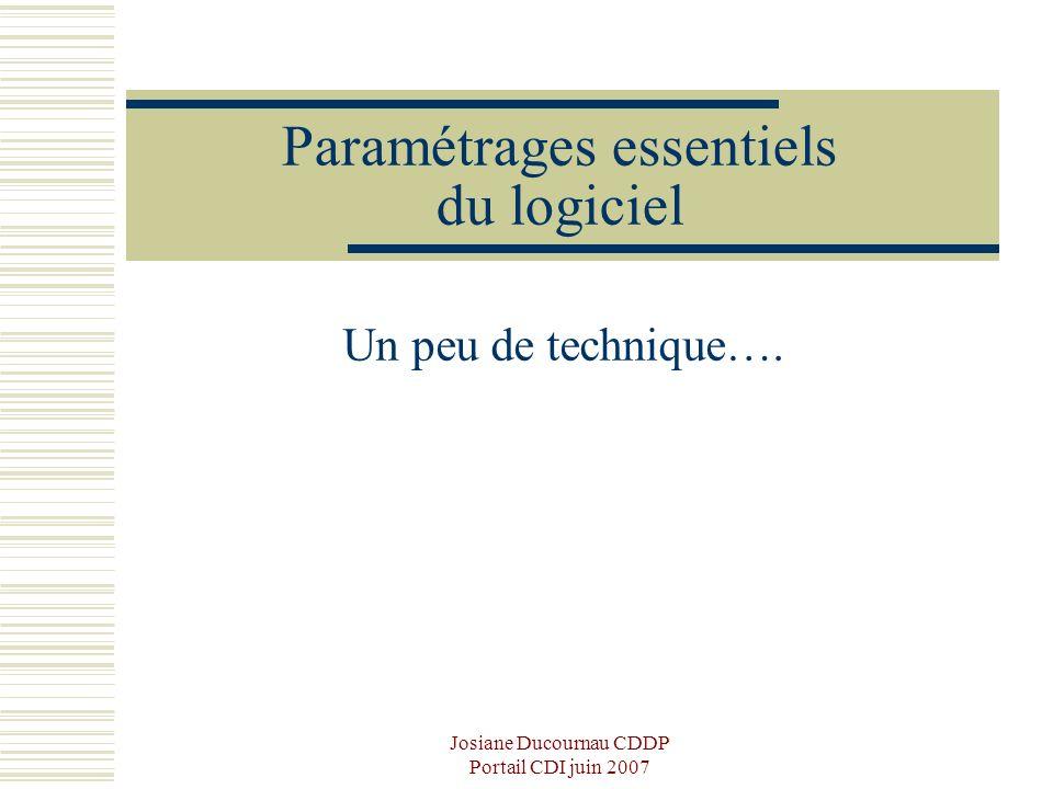 Paramétrages essentiels du logiciel