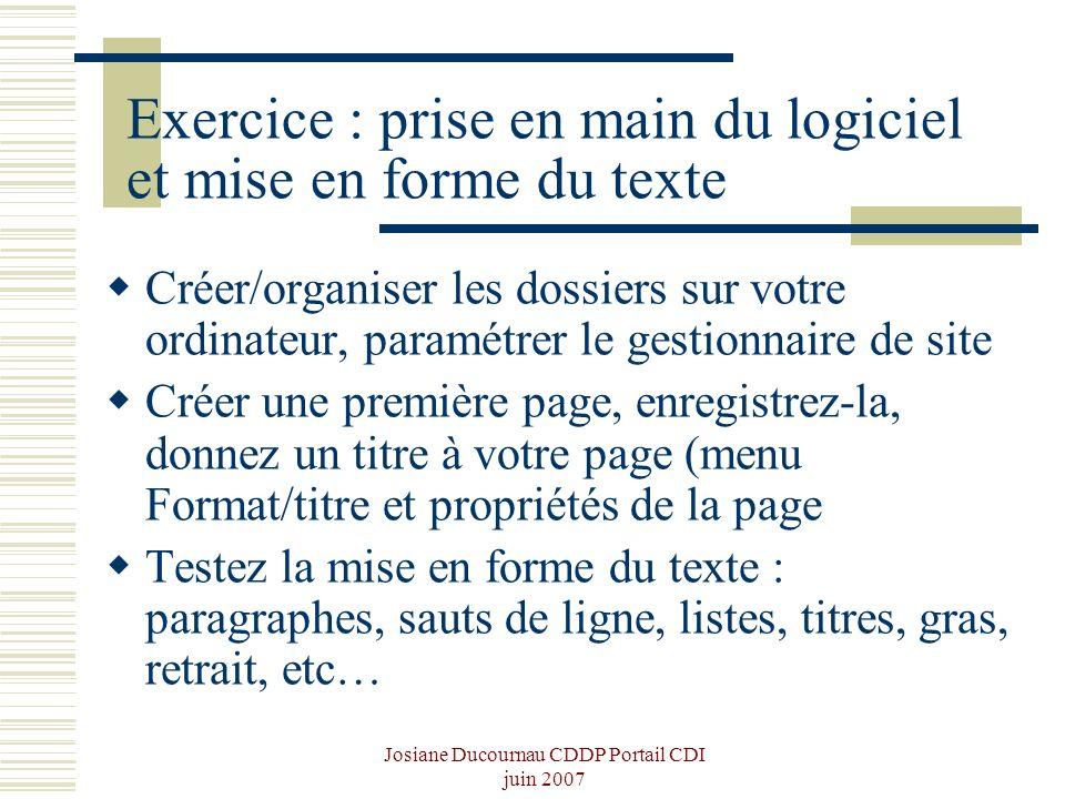 Exercice : prise en main du logiciel et mise en forme du texte