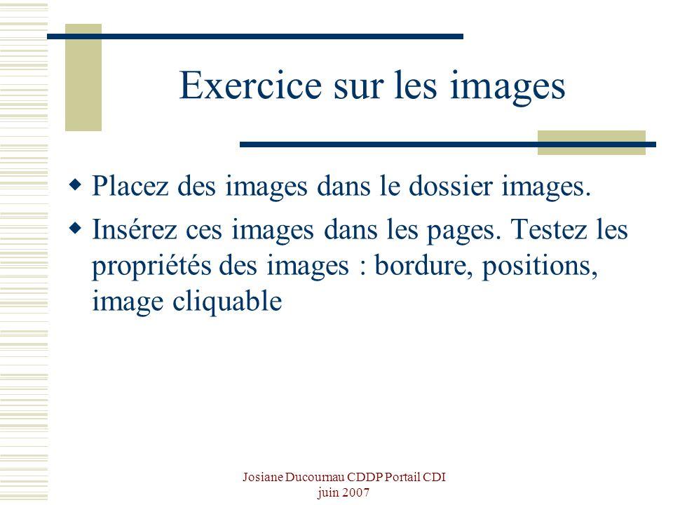 Exercice sur les images