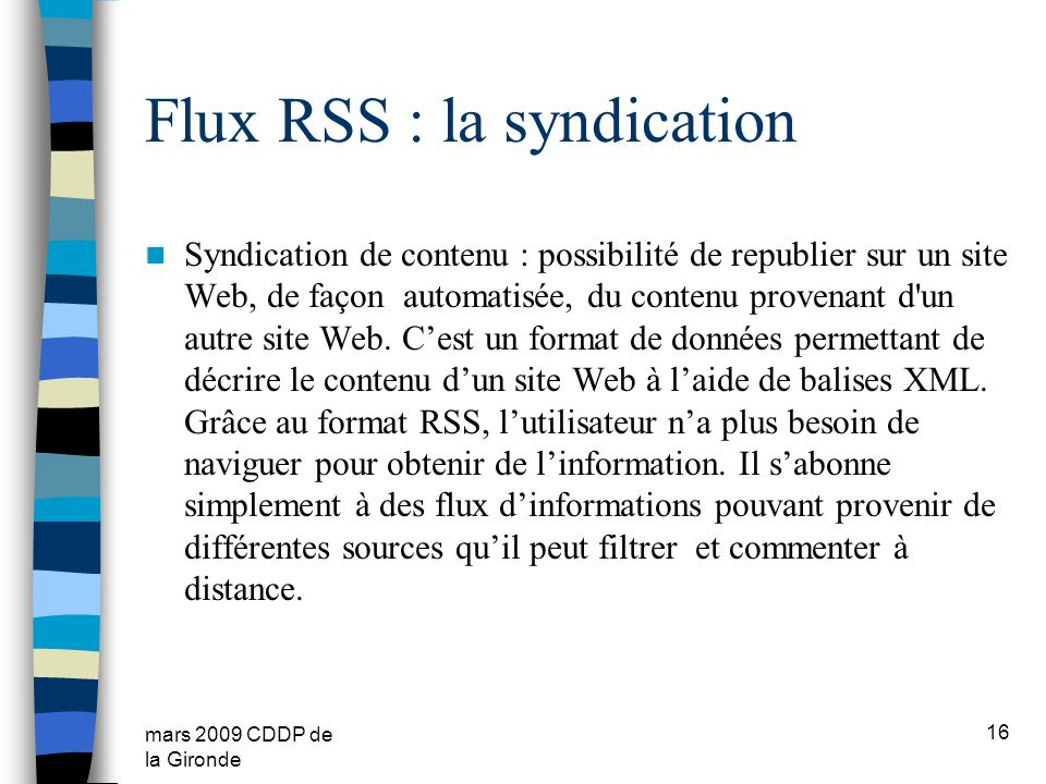 Flux RSS : la syndication