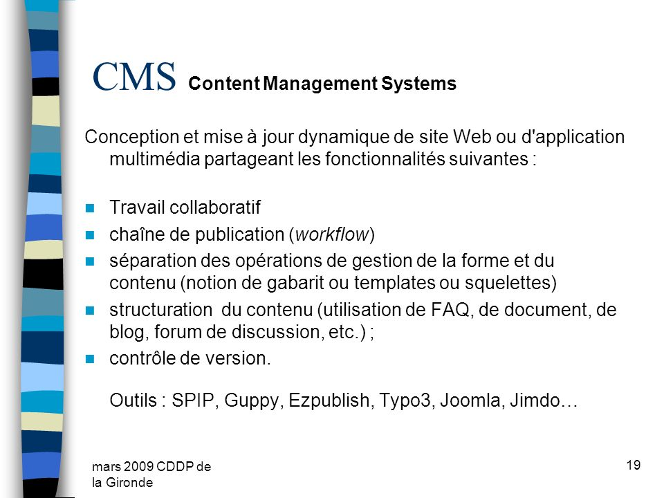 CMS Content Management Systems
