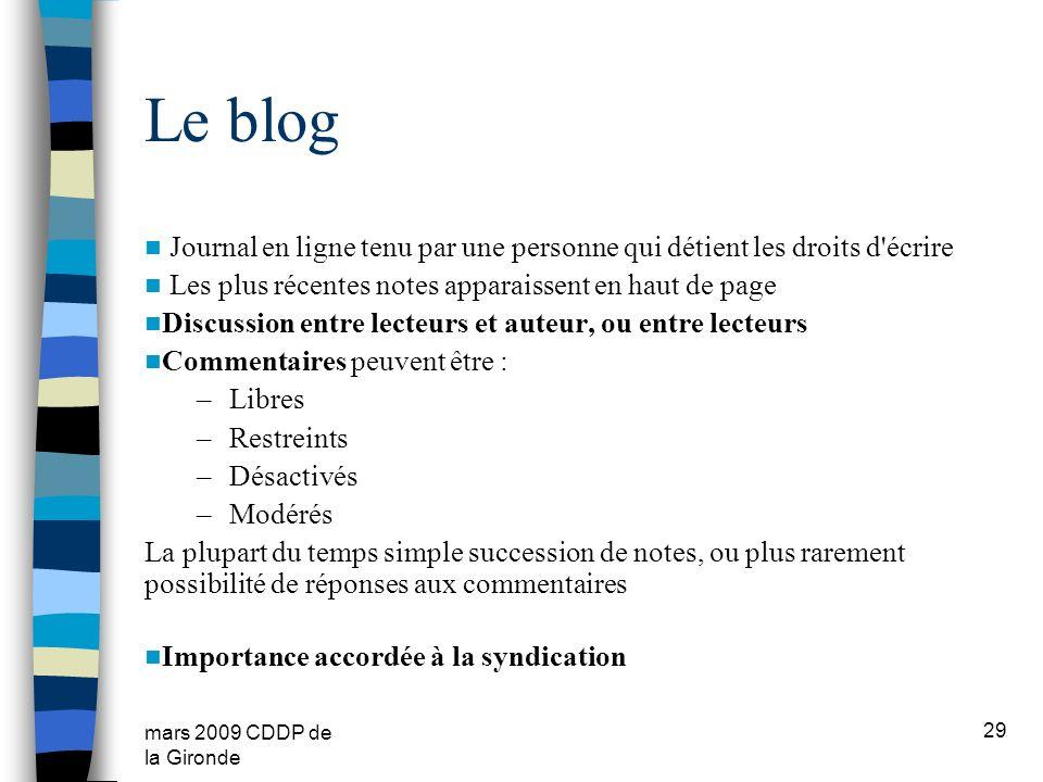 Le blog Journal en ligne tenu par une personne qui détient les droits d écrire. Les plus récentes notes apparaissent en haut de page.