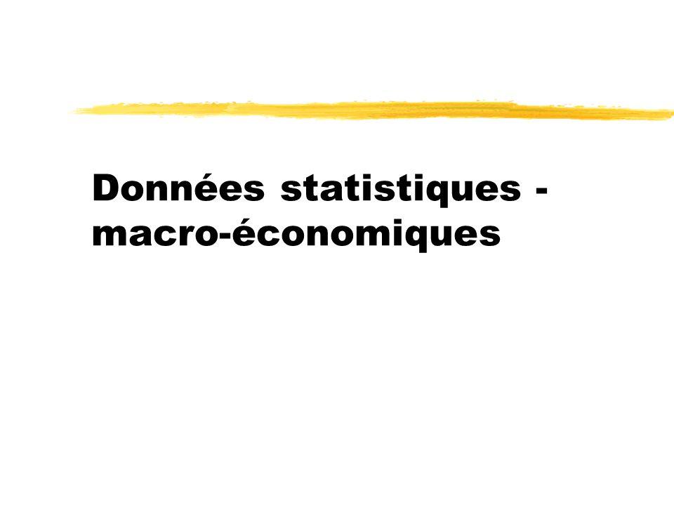Données statistiques - macro-économiques
