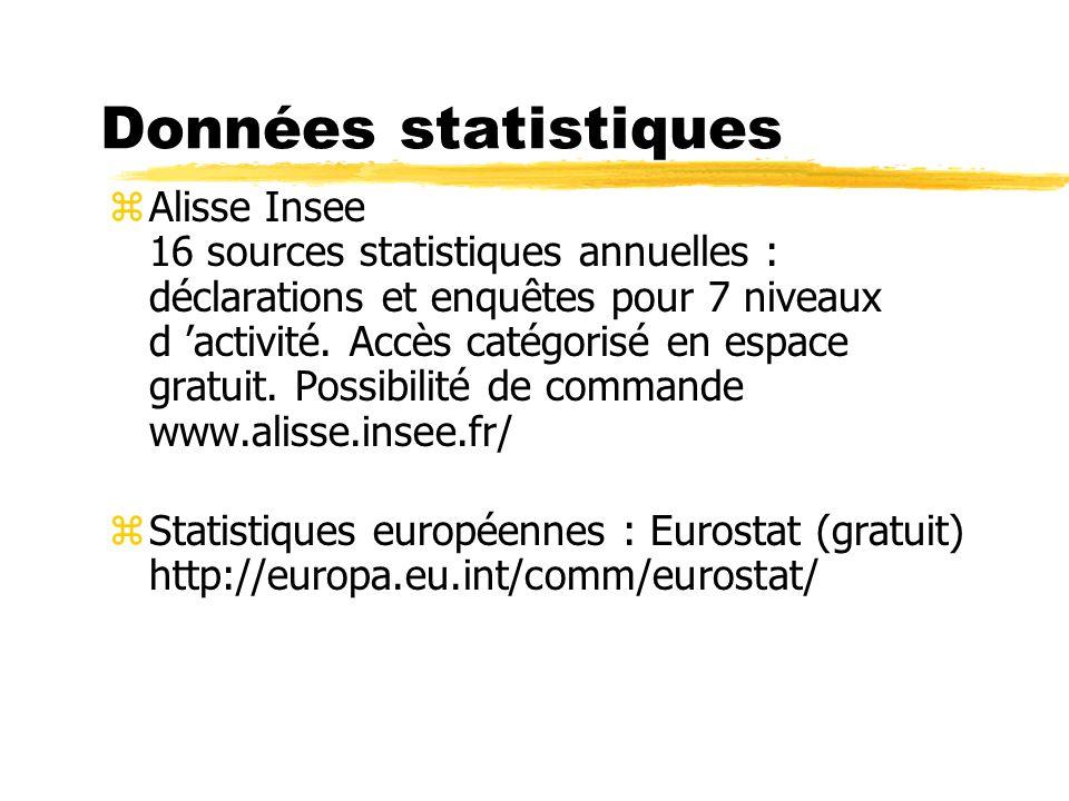 Données statistiques