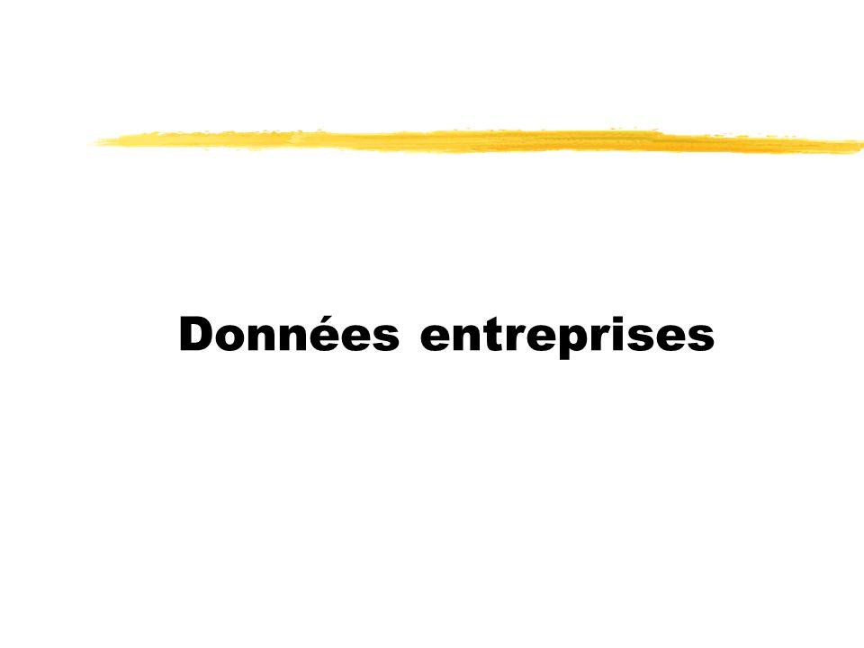 Données entreprises