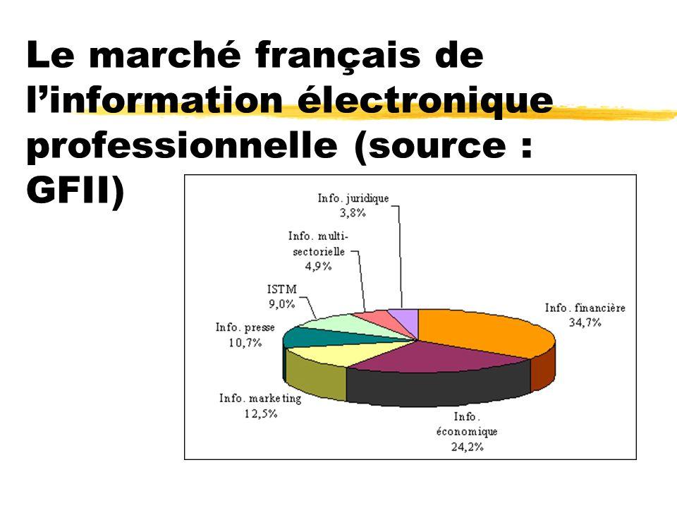 Le marché français de l'information électronique professionnelle (source : GFII)