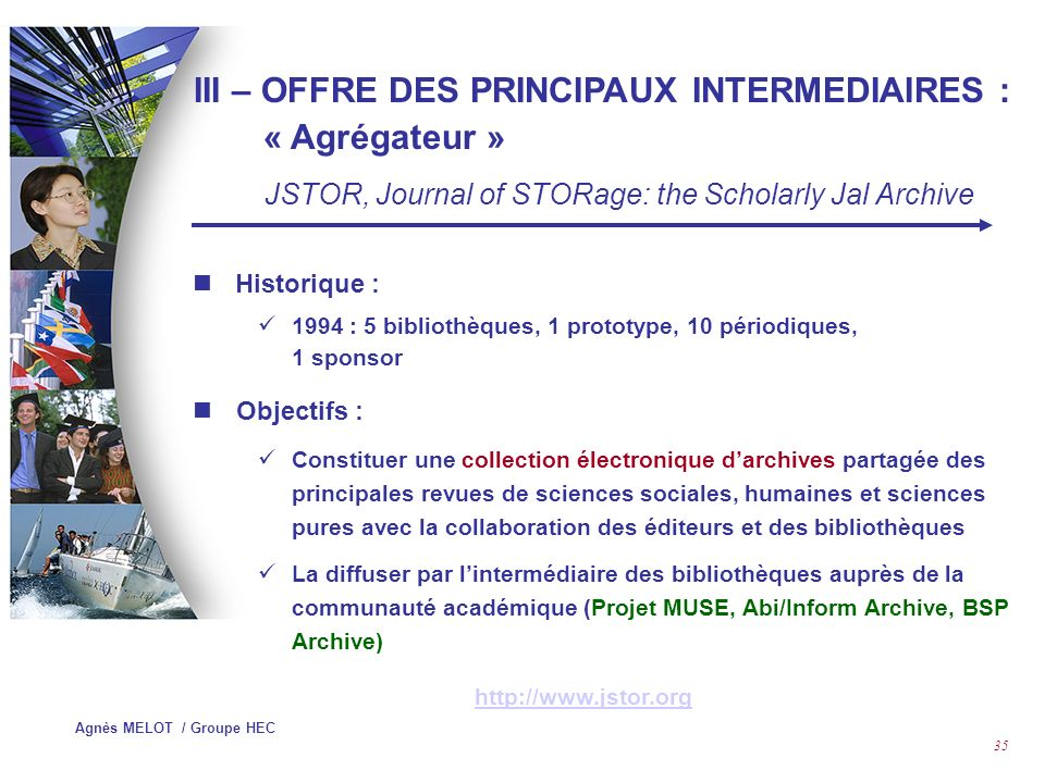 III – OFFRE DES PRINCIPAUX INTERMEDIAIRES : « Agrégateur »
