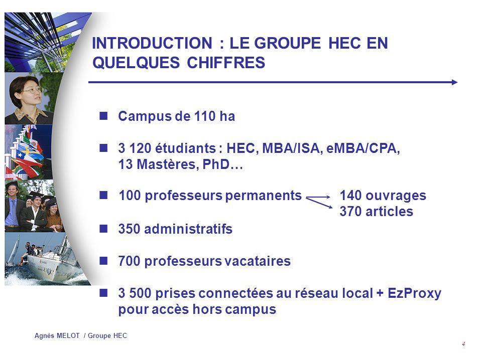 INTRODUCTION : LE GROUPE HEC EN QUELQUES CHIFFRES