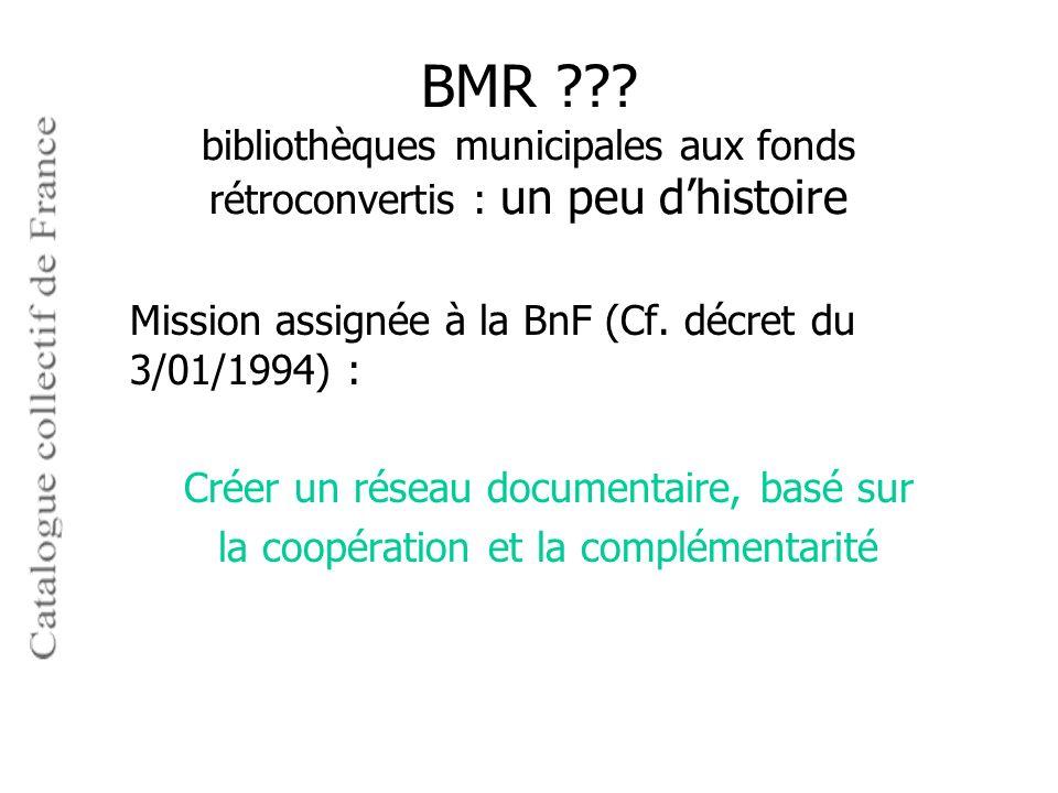 BMR bibliothèques municipales aux fonds rétroconvertis : un peu d'histoire