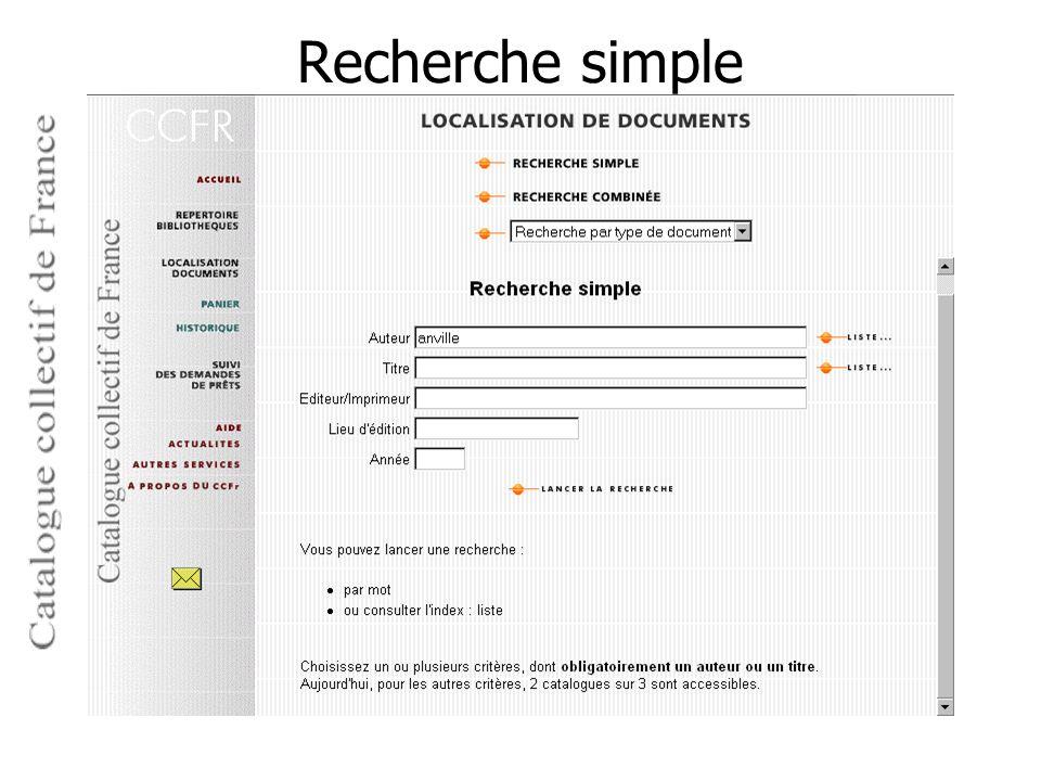 Recherche simple