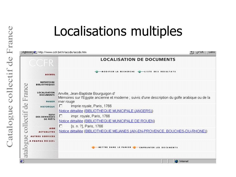 Localisations multiples