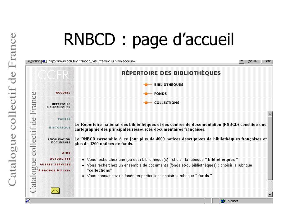 RNBCD : page d'accueil