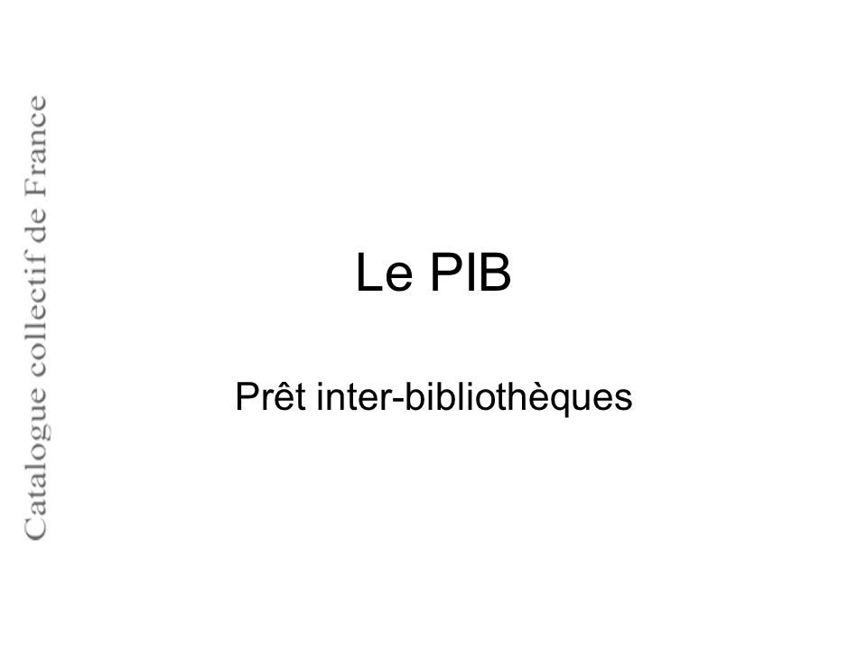Prêt inter-bibliothèques