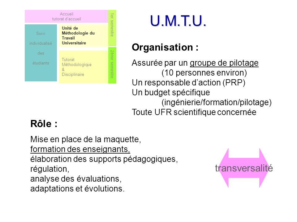 U.M.T.U. Organisation : Rôle : transversalité