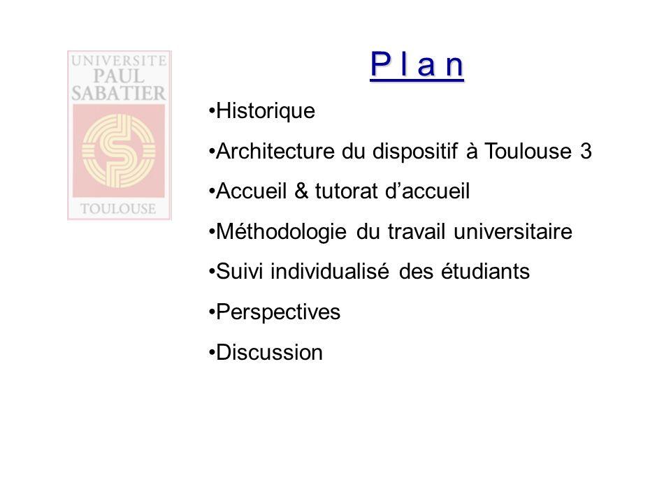 P l a n Historique Architecture du dispositif à Toulouse 3