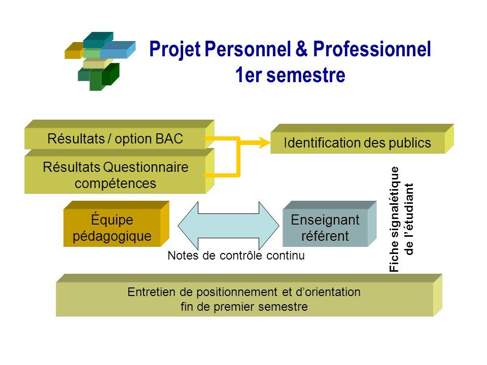 Projet Personnel & Professionnel 1er semestre
