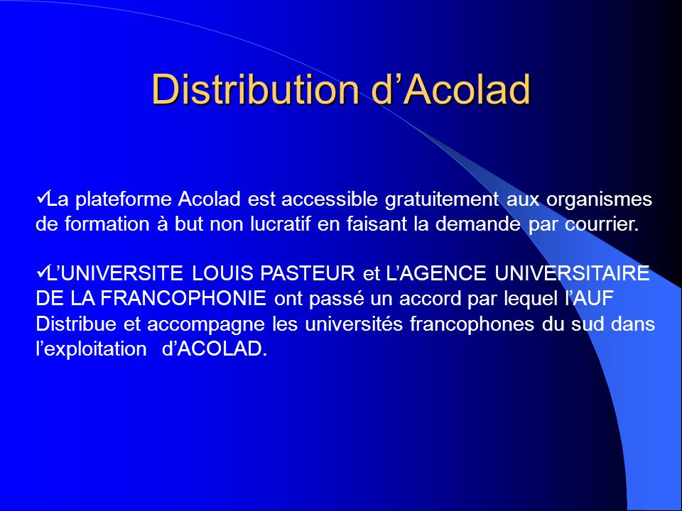 Distribution d'Acolad