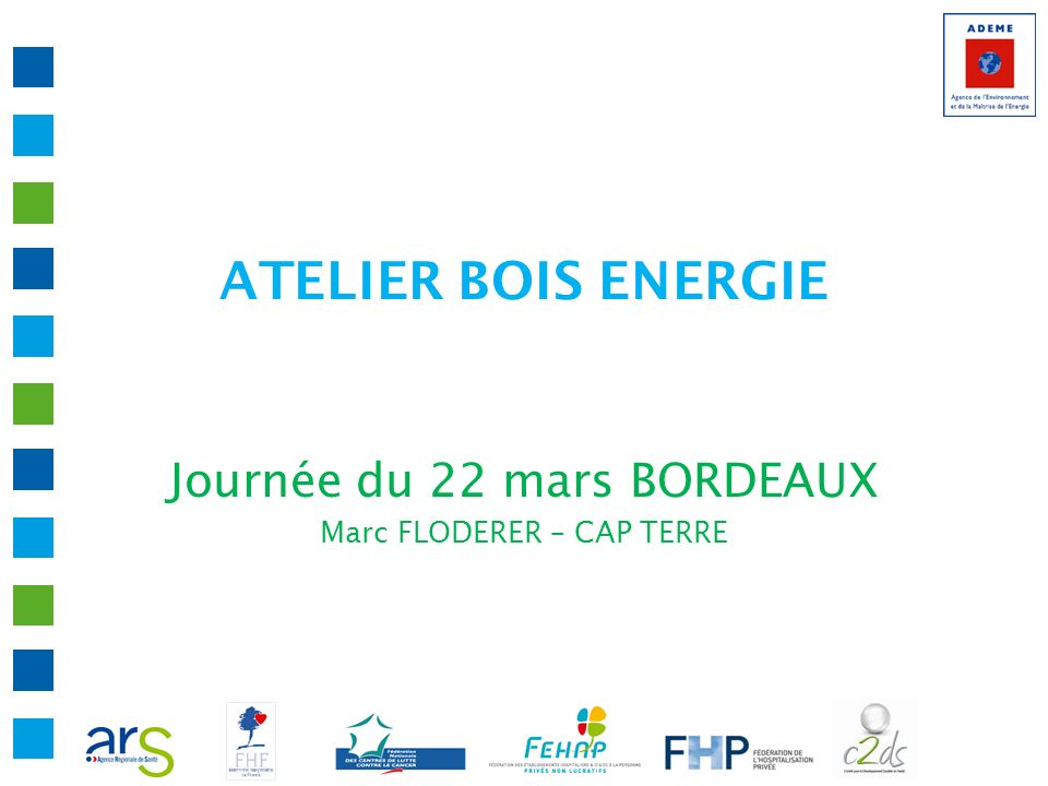ATELIER BOIS ENERGIE Journée du 22 mars BORDEAUX