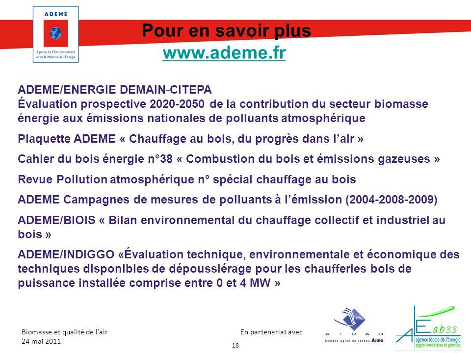 Pour en savoir plus www.ademe.fr